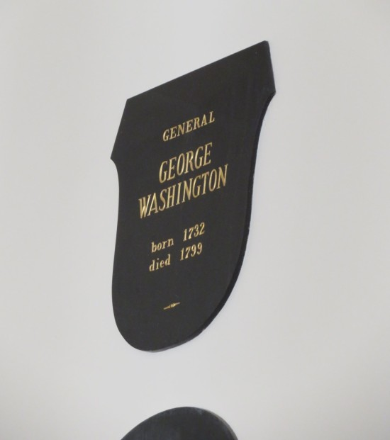 Washington plaque!