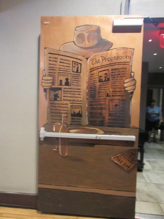 Press Room door art!