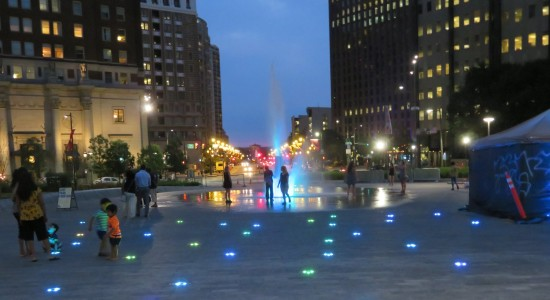 Love Park lights!