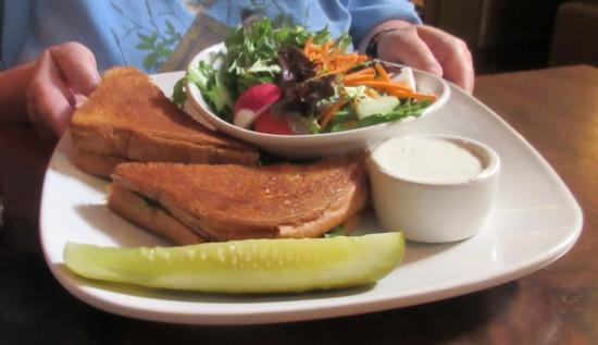 sandwich and salad!