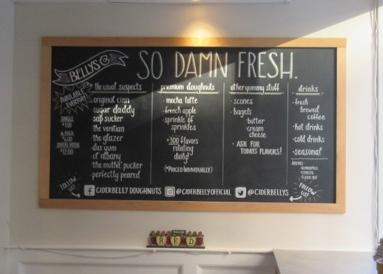 Cider Belly chalkboard!