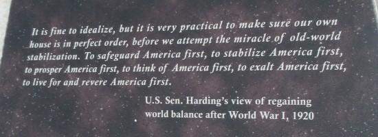 America First...