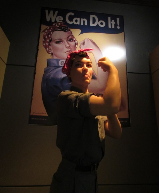 Not Quite Rosie the Riveter!