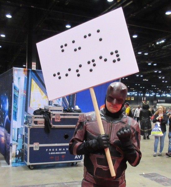 Daredevil with Braille sign!