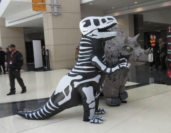 T-Rex skeleton!