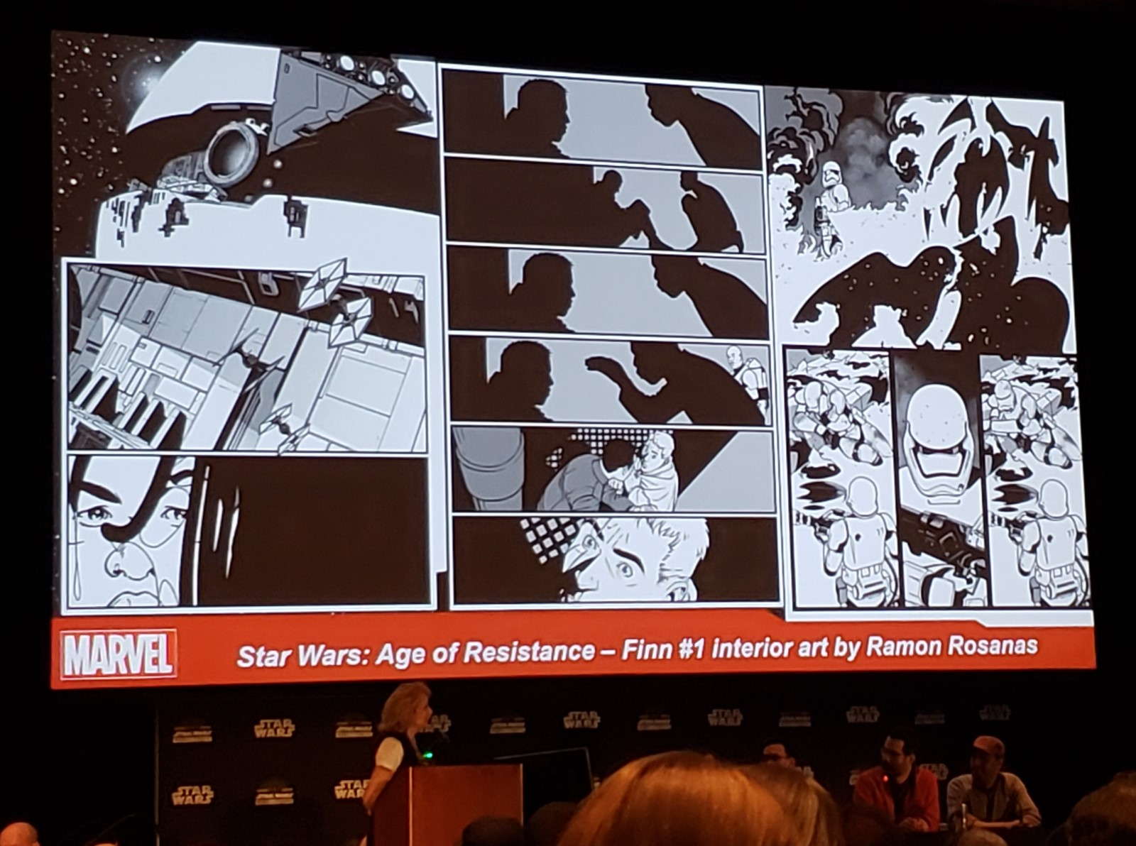 Star Wars Rogue One Mission Briefing Comic Strip Chase Card #3 Director Krennic
