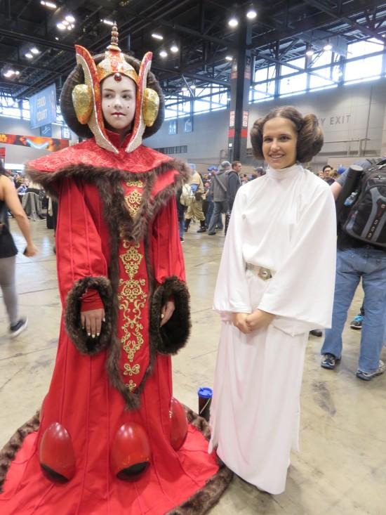Queen Padme Amidala and Princess Leia!