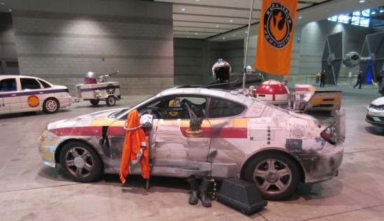 X-Wing battle damage car!