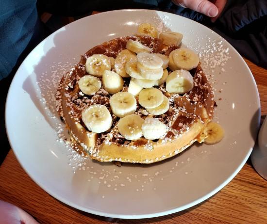 banana pecan waffle!