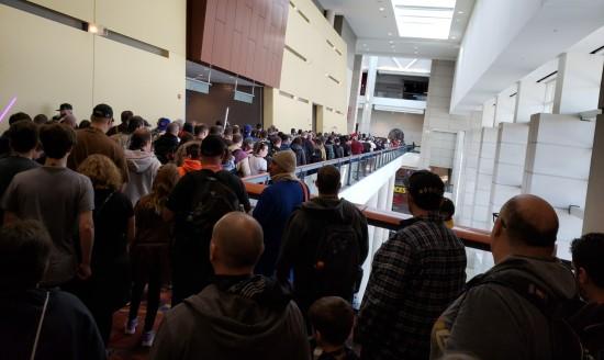Exhibit Hall Line Saturday!