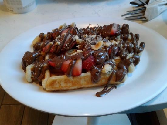 Nutella waffle!