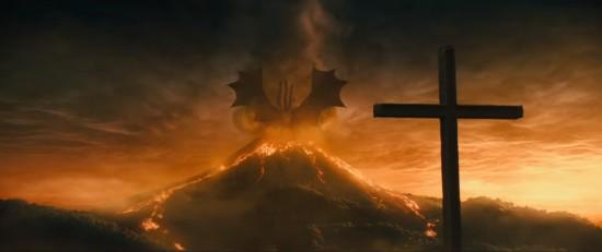 Jesus vs. Ghidorah!