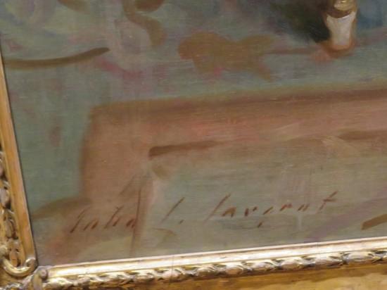 Sargent's signature!