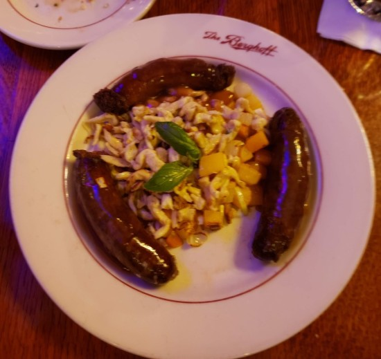 sausages and spaetzle!