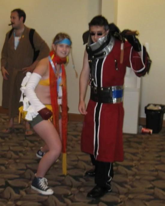 Rikku & Auron!