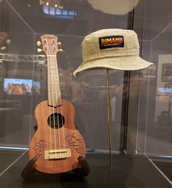 Black Ukulele Hart Hat Jumanji