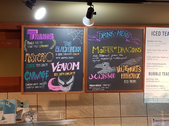 Caribou Coffee flavors!