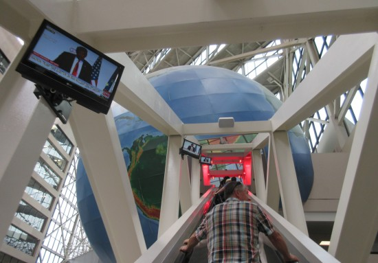 Escalator into Earth!