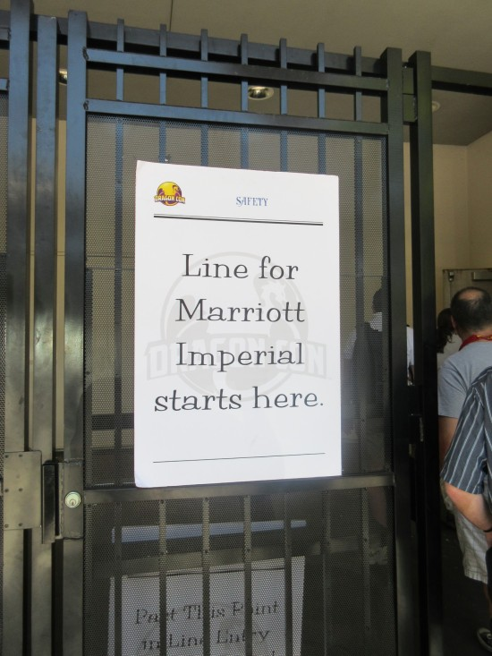 Marriott Imperial line sign!
