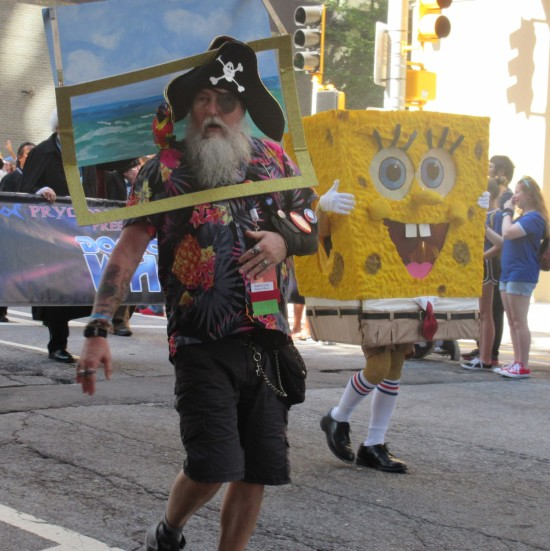 Patchy the Pirate and SpongeBob SquarePants!