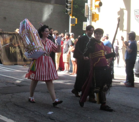 popcorn lady and Harry Potter Quidditch!