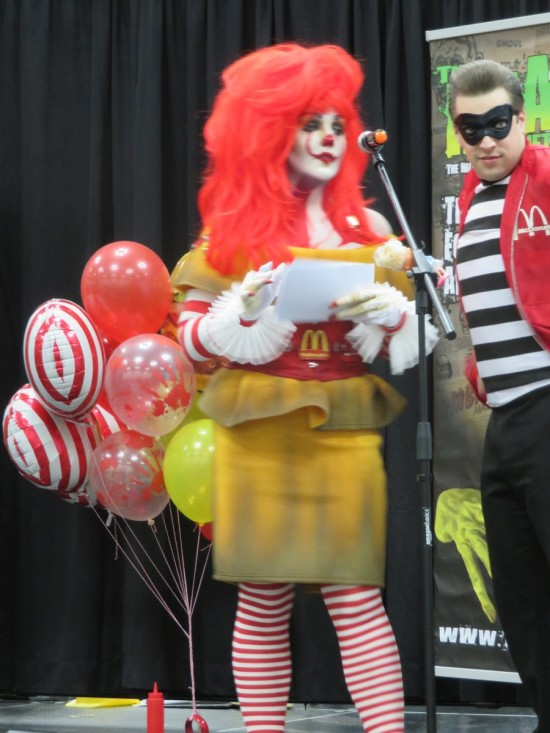 Ronald McDonald and Hamburglar!