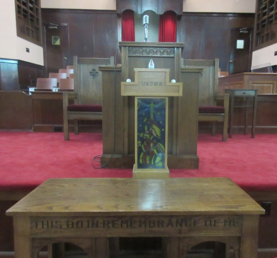 altar and pulpit!