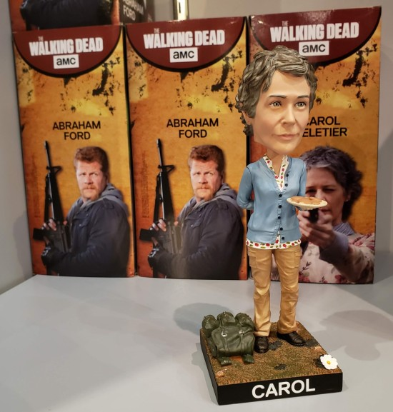 Carol and Abraham bobbleheads!