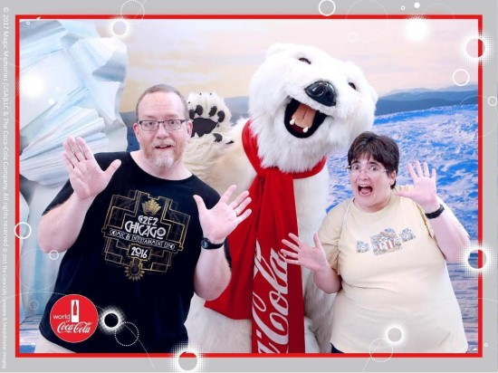 Coke Bear jazz hands!
