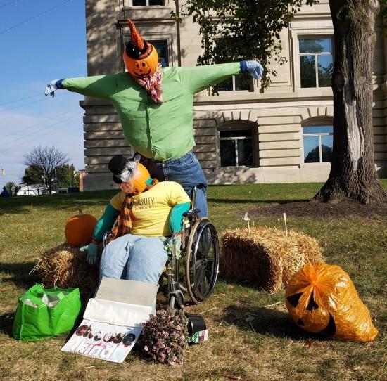 Danville scarecrows!