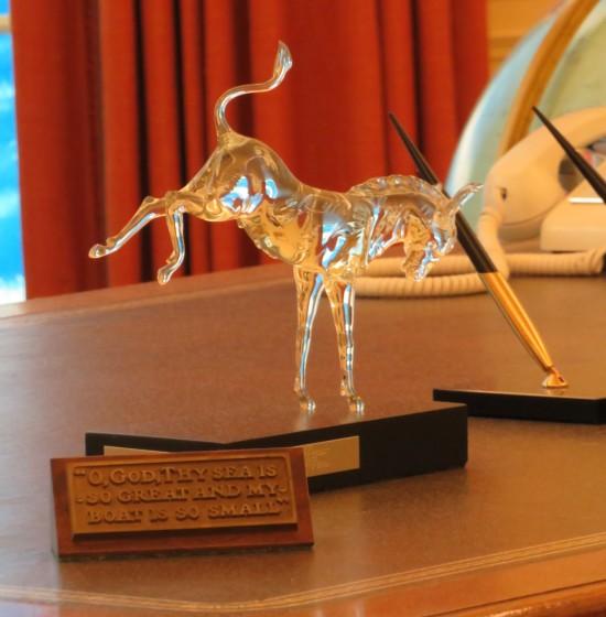 glass horse!