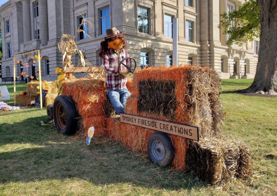 hay bale tractor!