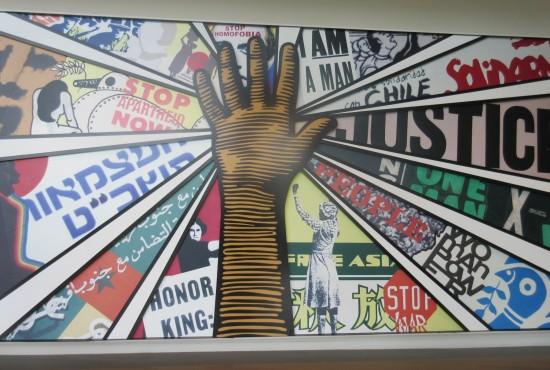 lobby mural.