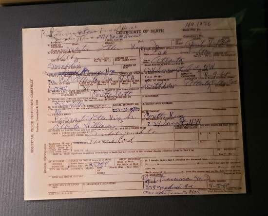 MLK certificate.