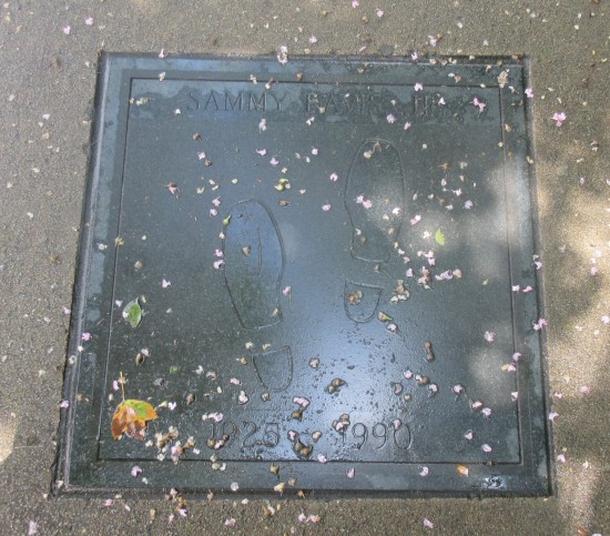 Sammy Davis Jr footprints!