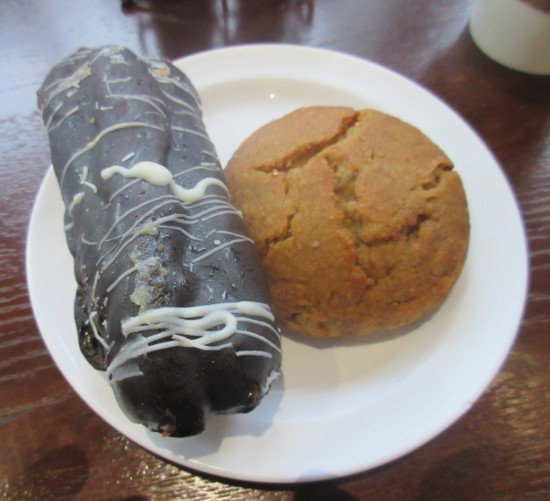 chocolate eclair and sweet potato biscuit!