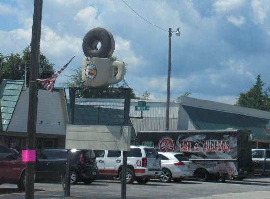 giant donut and eagle mug!