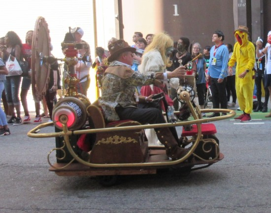 steampunk golf cart!