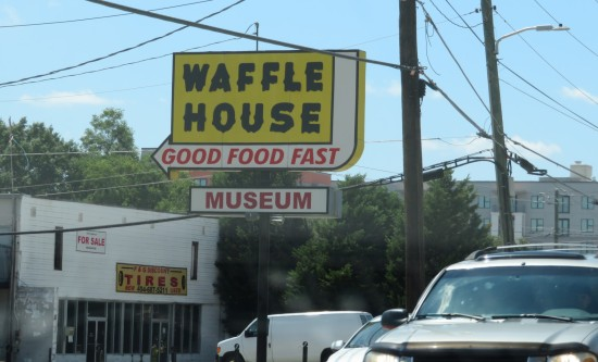 Waffle House Museum sign!