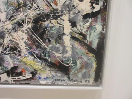 Pollock's signature!