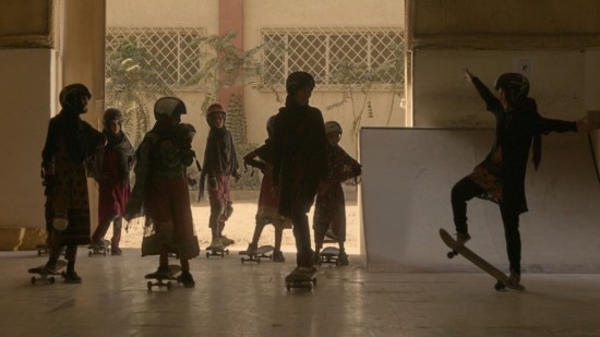 Skateboard in a Warzone!