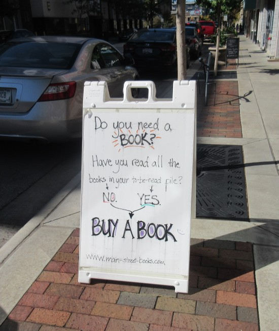 bookshop sandwich board!