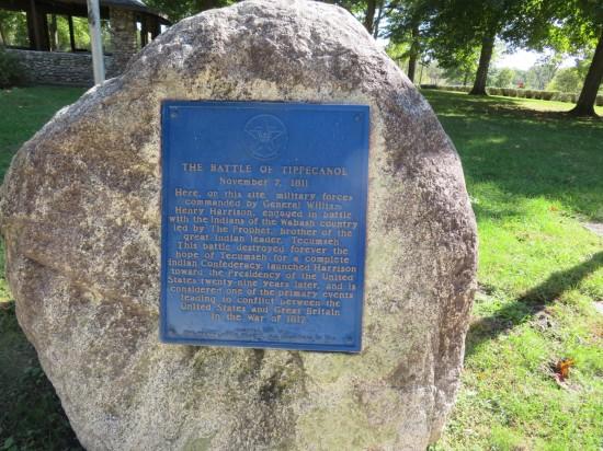 plaque in rock.