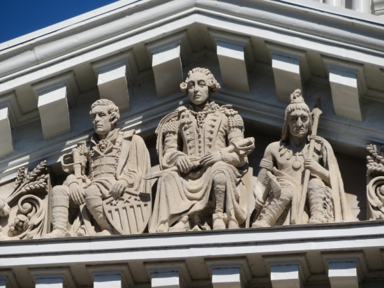 Washington pediment!