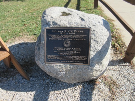 Indiana State Parks rock plaque!