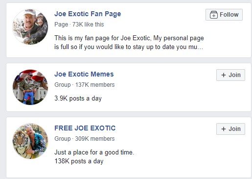 Joe Exotic pages!