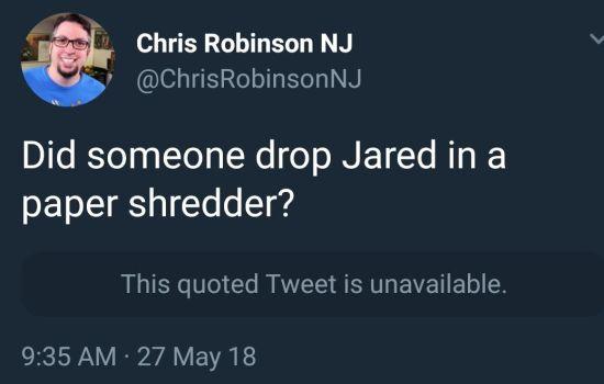 Shredding Jared!