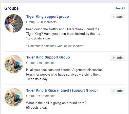 Tiger King support groups!