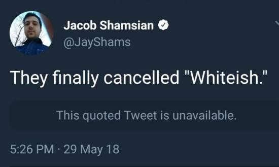 Whiteish!