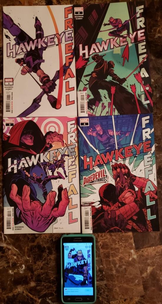 Hawkeye Freefall set!